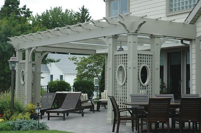 286 - West Islip NY - Azek Pergola with Canopies