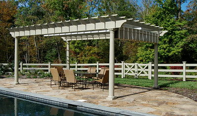 873 - NJ - Pool Pergola with Canopy