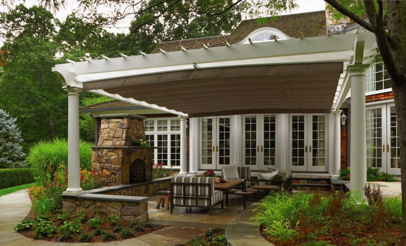 873 - NJ - Pergola with Beige Canopy