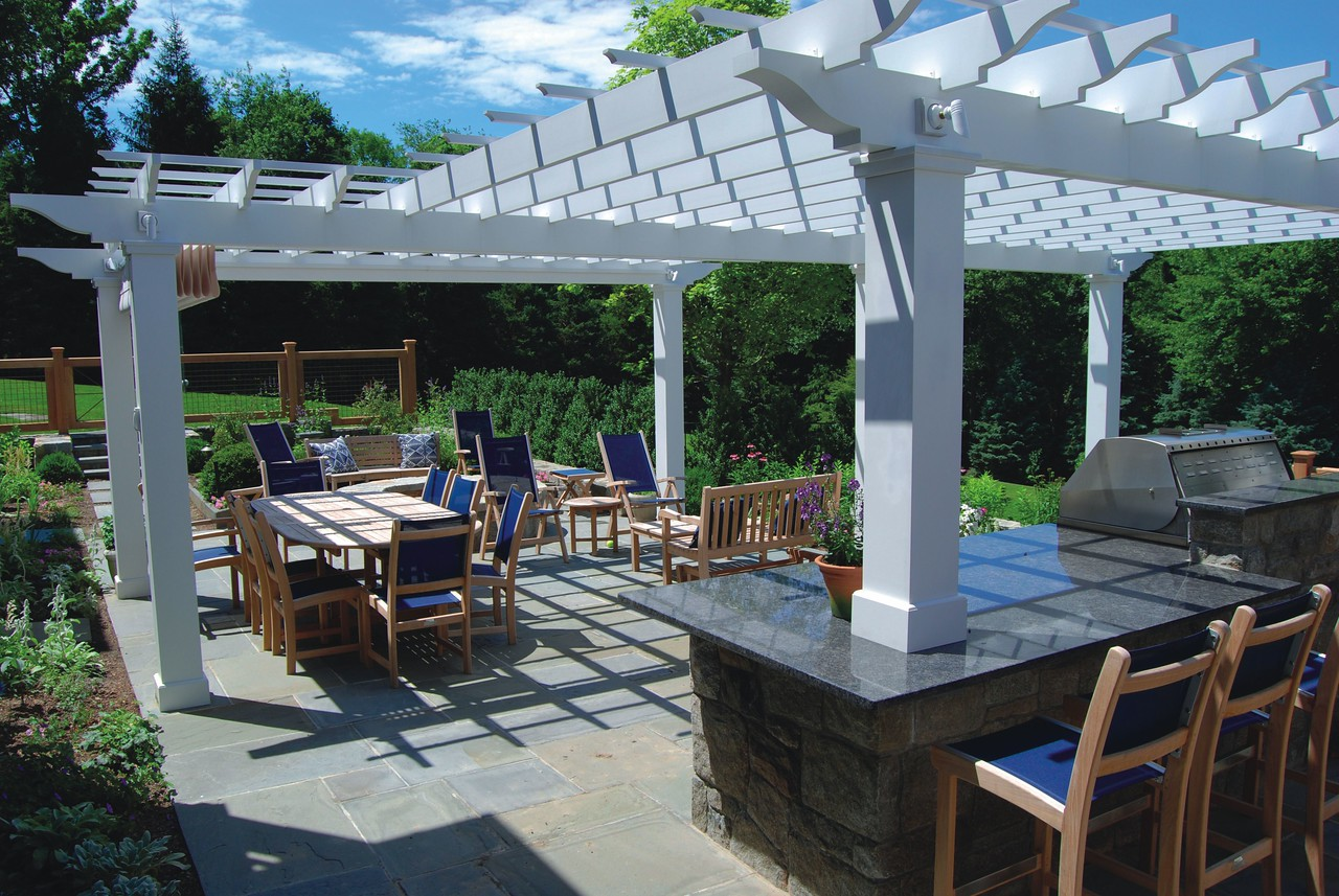 177 - 381739 - New Canaan CT - Custom Pergola from House