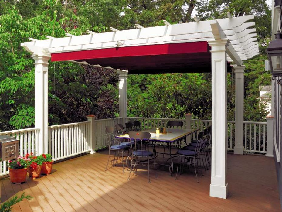 888 - 342285 - Madison  NJ - Pergola with Red Canopy