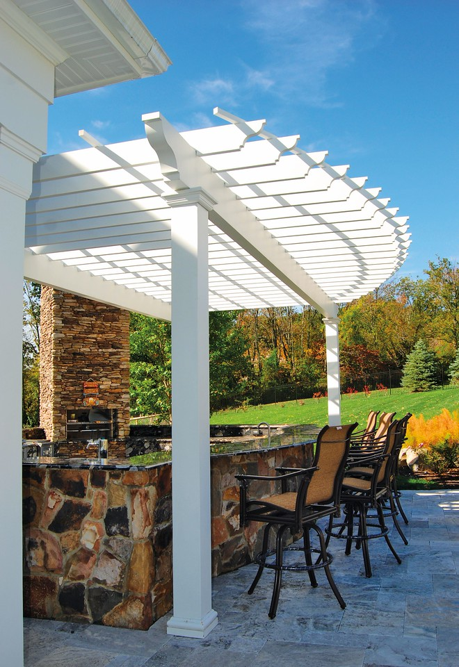 889 - 403216 - Chester NJ - Arched Pergola