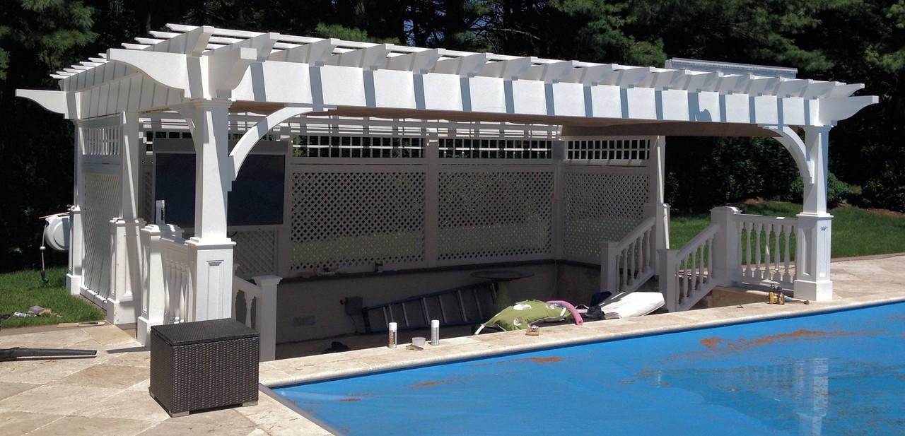 286 - Old Westbury NY - Pool Pergola