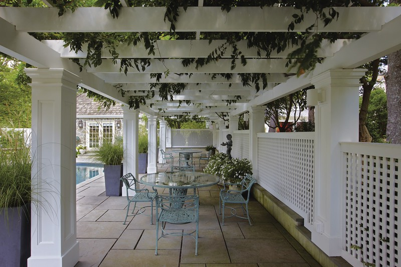 Bedminster NJ - Azek Pool Pergola