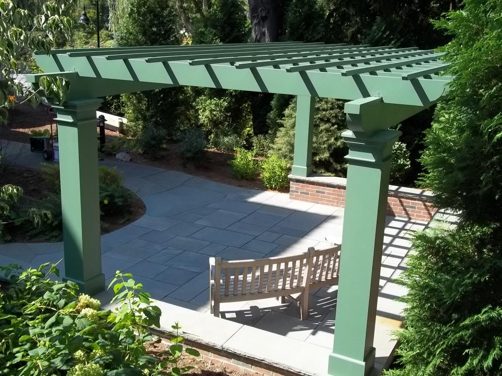 961 - 404820 - York ME - Green Pergola on Wall