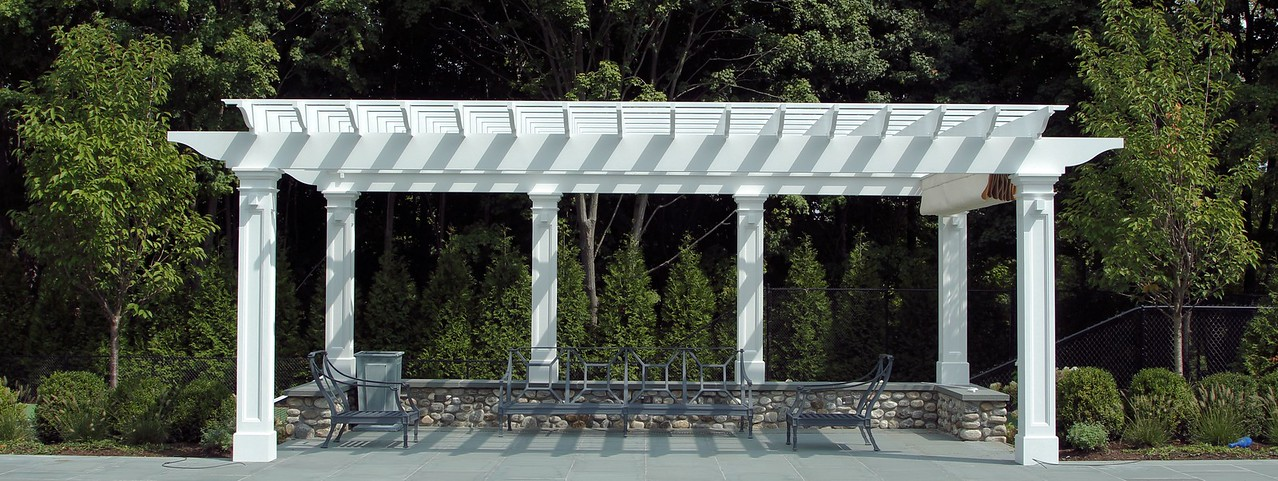 177 - 473900 - New Canaan CT - Pool Pergola with Canopy