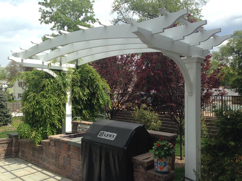873 - NJ - Two Post Pergola - Freestanding Pergolas Crafted With Azek - Walpole Outdoors