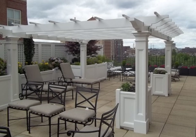 423 - 489380 - Boston MA - Rooftop Pergola
