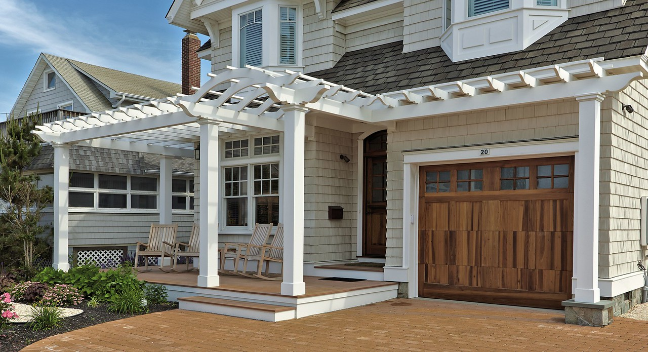 895 - 391844 - Lavallette NJ - Azek Pergola with Arched Entry