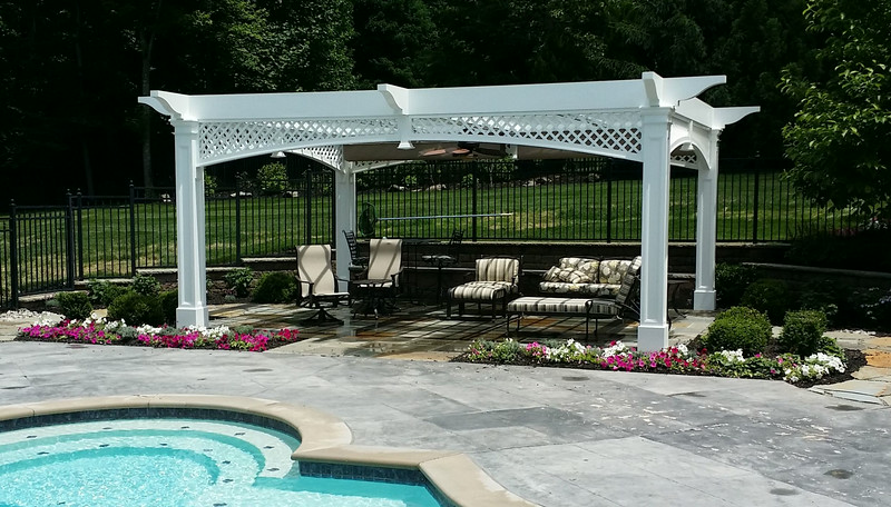 898 - Warren NJ - Pool Pergola
