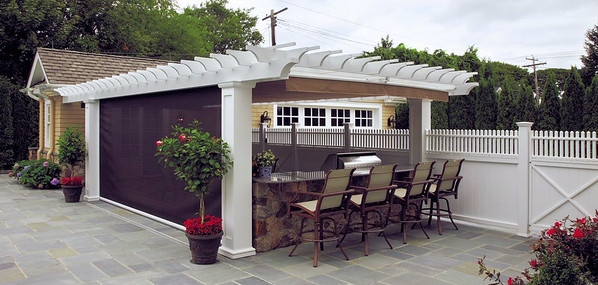 873 - Sea Girt NJ - Pergola with Canopy & Side Shade