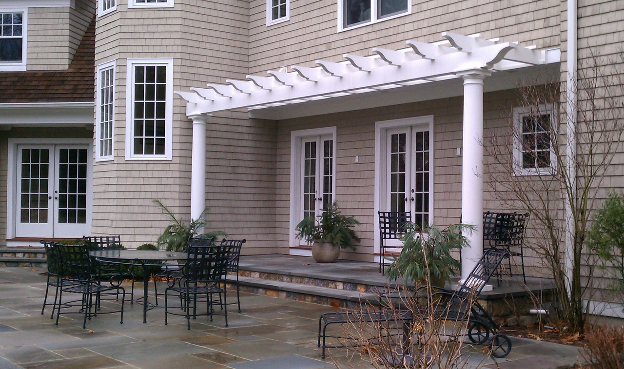 185 - New Canaan CT - Attached Pergola