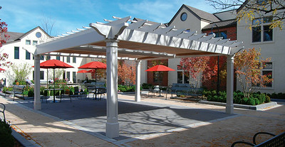 898 - West Caldwell NJ - Pergola with Dual Shade Canopies