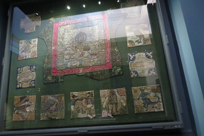 Display of Oxburgh Hanging pieces at V&A