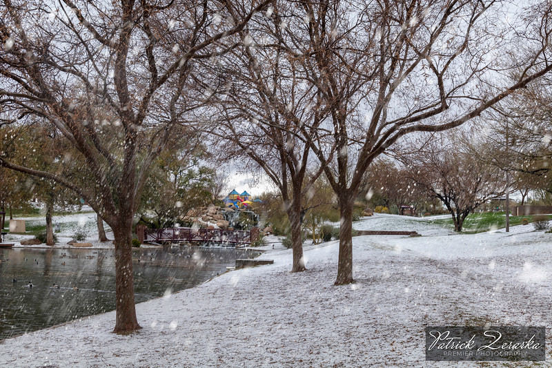 Anthem Arizona Lake Hail Snow Day 02-21-2019