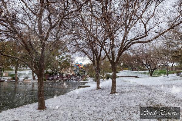 Anthem Arizona Lake Hail Snow Day 02-21-2019