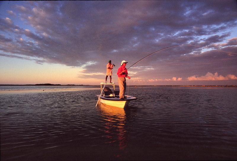 Last Light Casting to Bonefish Fly Fishing Turneffe Belize