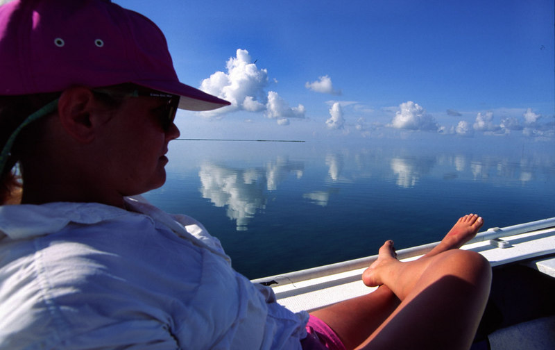 Calm Day On the Flats Fly Fishing Turneffe Belize
