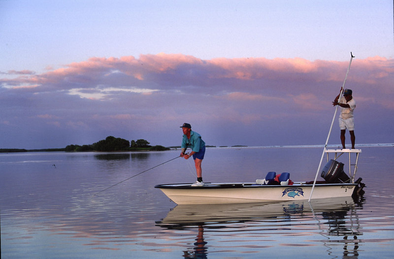Casting to Bonefish Turneffe Belize