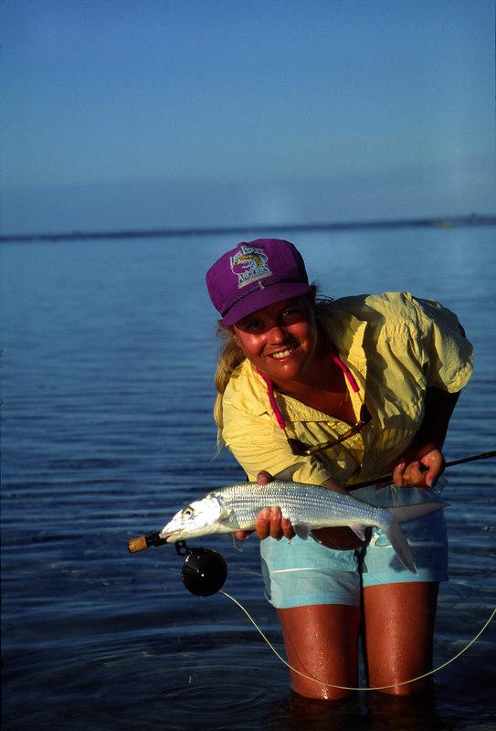 Wendy Gunn with Bonefish Fly Fishing Turneffe Belize