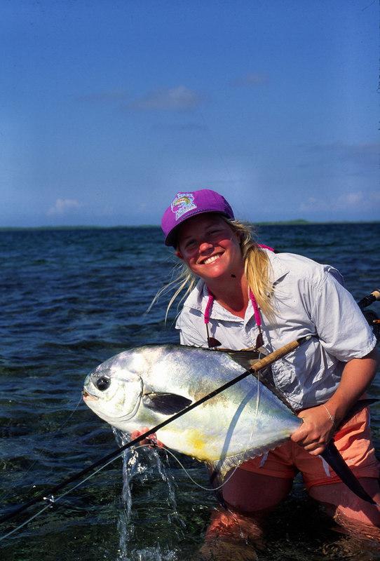 Wendy Gunn Holding Belize Permit Fly Fishing