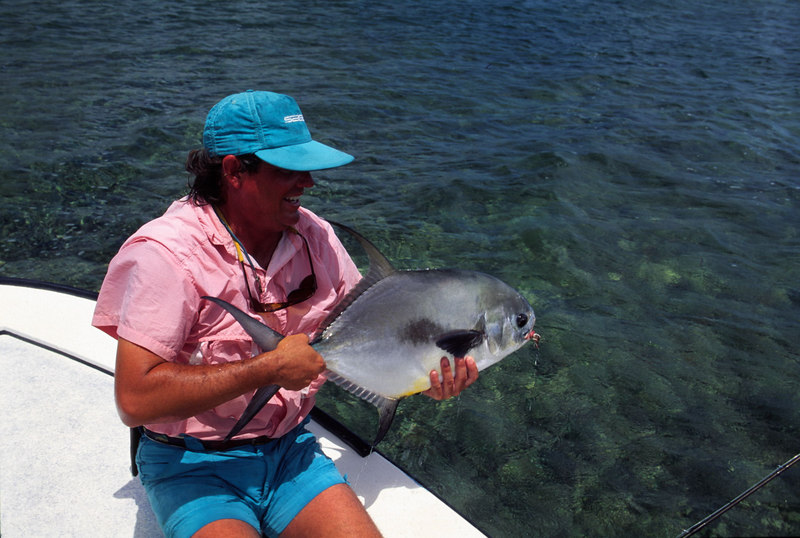 Terry Gunn and Permit Belize Fly Fishing