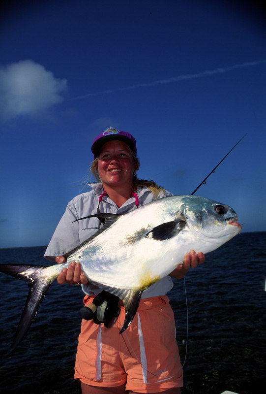 Wendy Gunn and Permit Belize Fly Fishing