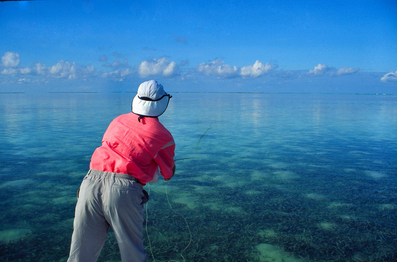 Flat Calm Day on the Flats Bonefishing Fly Fishing Turneffe Belize