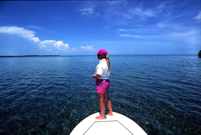 Wendy Gunn Hunting Permit in the Grass Fly Fishing Turneffe Belize