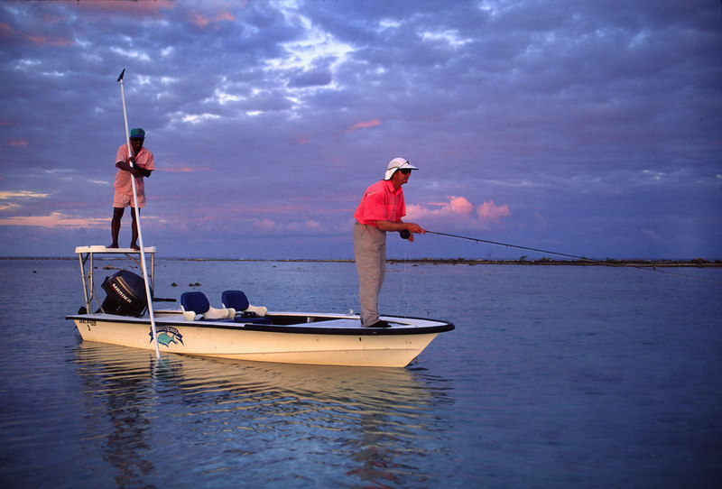Casting to Bonefish Fly Fishing Turneffe Belize