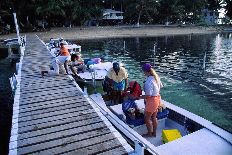 Loading up at Turneffe Flats Lodge Fly Fishing Turneffe Belize