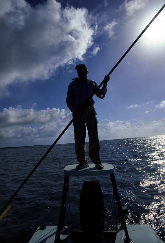 Tarpon Fly Fishing Guide Poling Florida Keys