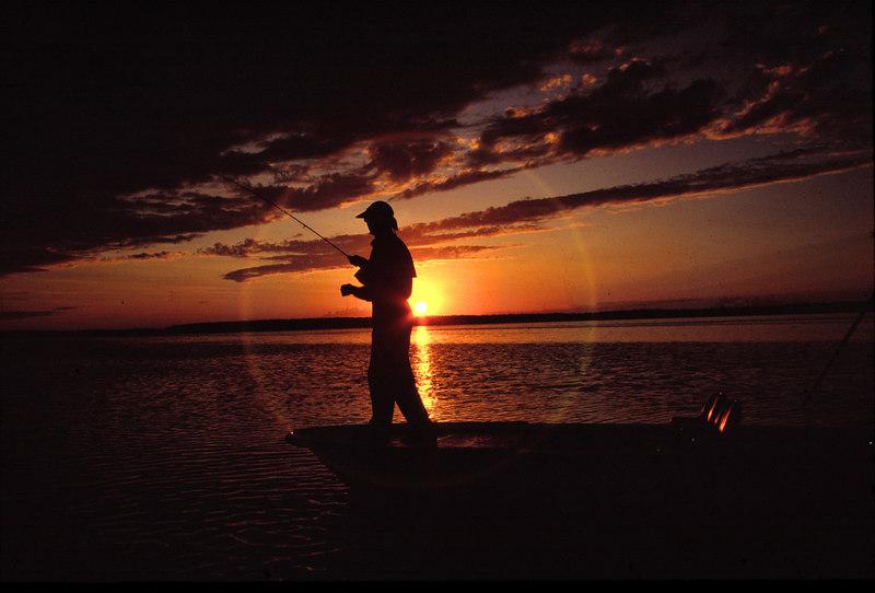 Sunset Bonefish Fly Fishing Turneffe Belize