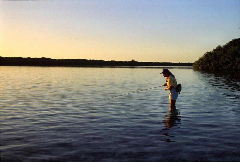 Wendy Gunn Stalking BoneFish Turneffe Belize
