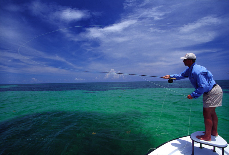 Mike Henry Casting to Tarpon florida Keys