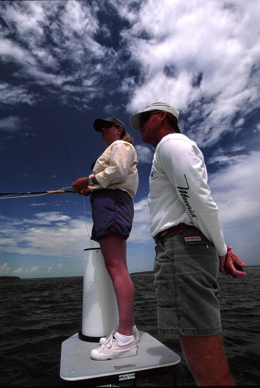 Wendy Gunn and Capt. Rick Murphy Tarpon Fly Fishing Florida Keys