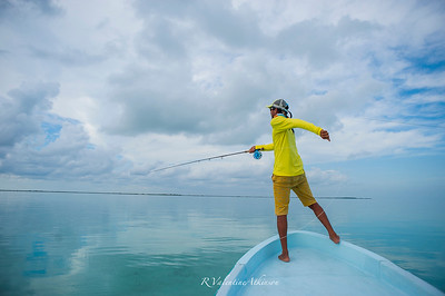 fishing guide at palometa club, ascension bay, mexico. permit fishing.