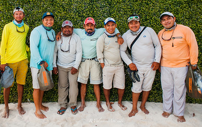 fishing guides at palometa club, ascension bay, mexico