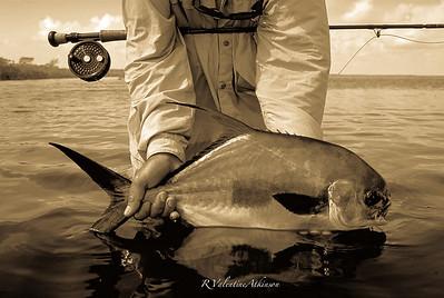 Permit fishing at Palometa Club, Mexico