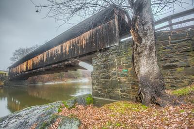 Perrine's Bridge, Rifton, New York on a foggy December day