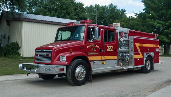 Hopewell Twp Fire Dept E-222 1997 E-One Freightliner FL-80 1250-1000 20 Gal Class A  a