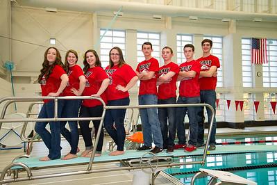Swim Team Seniors Fun2