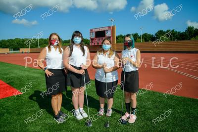 Girls Golf JV masked