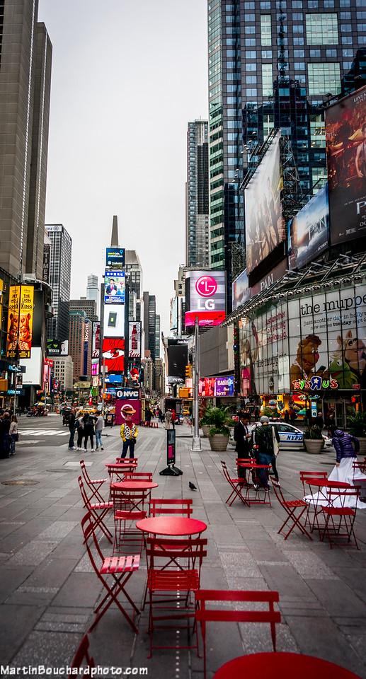 Time Square un dimanche matin