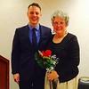 Rep. Jim Arciero and Honoree Patti Mason, both of Westford