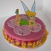 Torta de Campanita - Pastillaje pintado.