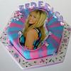 Hannah Montana - Imagen enriquecida con fondant y pasta de modelar.