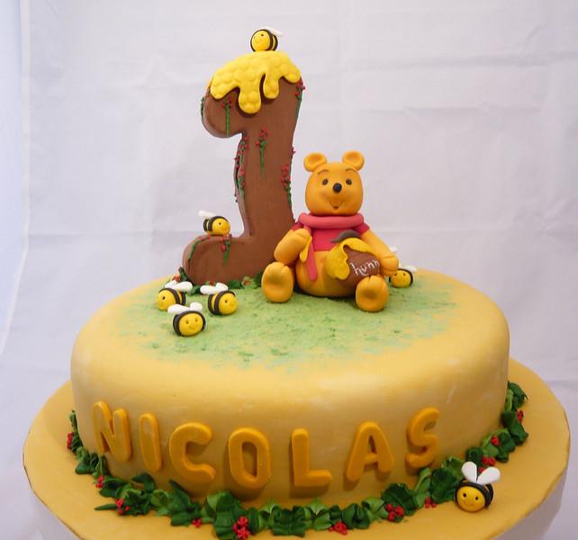 Torta de 1 año de Winnie the Pooh.