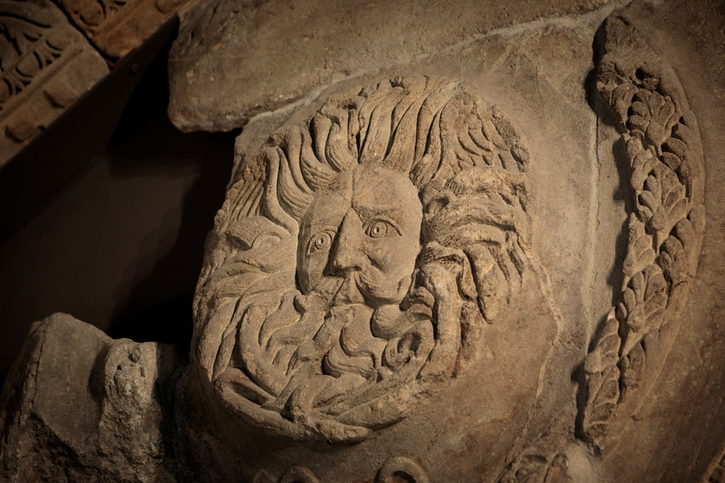 the gorgon @ the roman baths