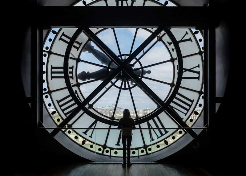 clock face @ musée d'orsay